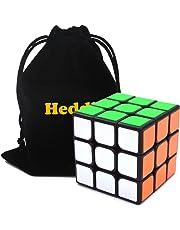 Heddi Magic Cube 3x3x3 Speed Cube Black 56mm Pocket Cube For Beginner