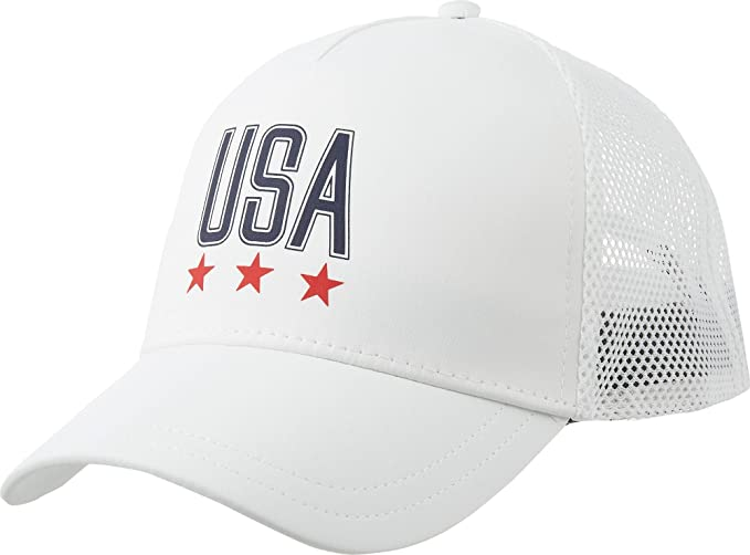 Amazon.com  Under Armour Women`s USA Snapback Hat (White (1313833 ... de0d4c45f234