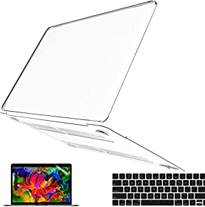 B BELK Compatible with MacBook Air 13 inch Case 2021 2020 2019 2018 Release Model: M1 A2337 A2179 A1932, Soft Touch Hard Shell Case + Keyboard Cover + Screen Protector, MacBook Air 2021 Case, Clear