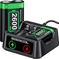 Rechargeable Battery Compatible with Xbox One/Xbox One S/Xbox One X/Xbox One Elite, 2 x 2600mAh Battery Pack for Xbox One, High Speed Rechargeable Battery Packs & Battery Charger