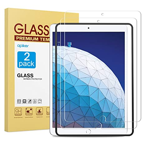 iPad Pro 10.5 Inch amFilm Case Friendly Tempered Glass Screen Protector 2 Pack
