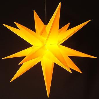 Aussenstern Stern Wetterfest Gelb Kunststoff Aussen Adventsstern