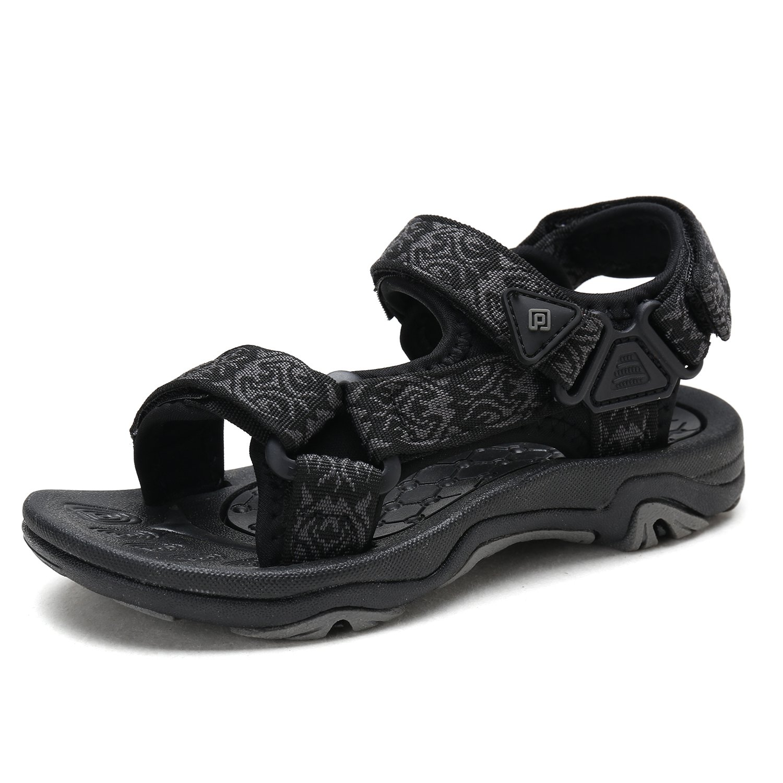DREAM PAIRS Little Kid 170892-K Black Outdoor Summer Sandals Size 13 M US Little Kid