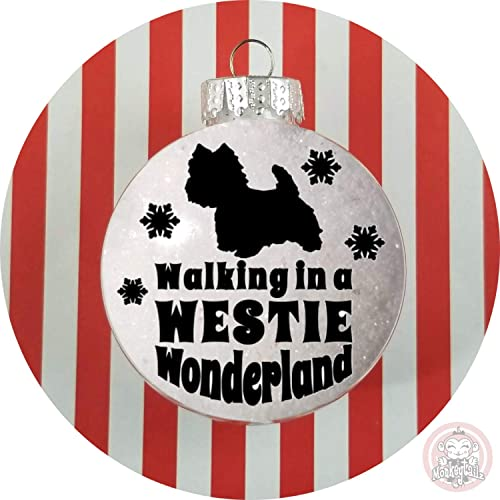 WESTIE Christmas Ornament ~ West Highland Terrier Winter Wonderland Faux  Snow Acrylic or Glass - Amazon.com: WESTIE Christmas Ornament ~ West Highland Terrier Winter