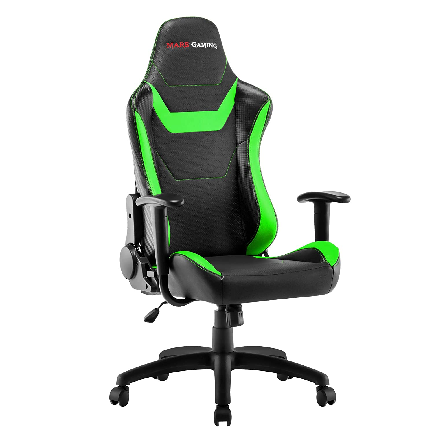 Mars Gaming MGC218 - Silla profesional, tecnología AIR, reclinable 180°, verde: Amazon.es: Hogar