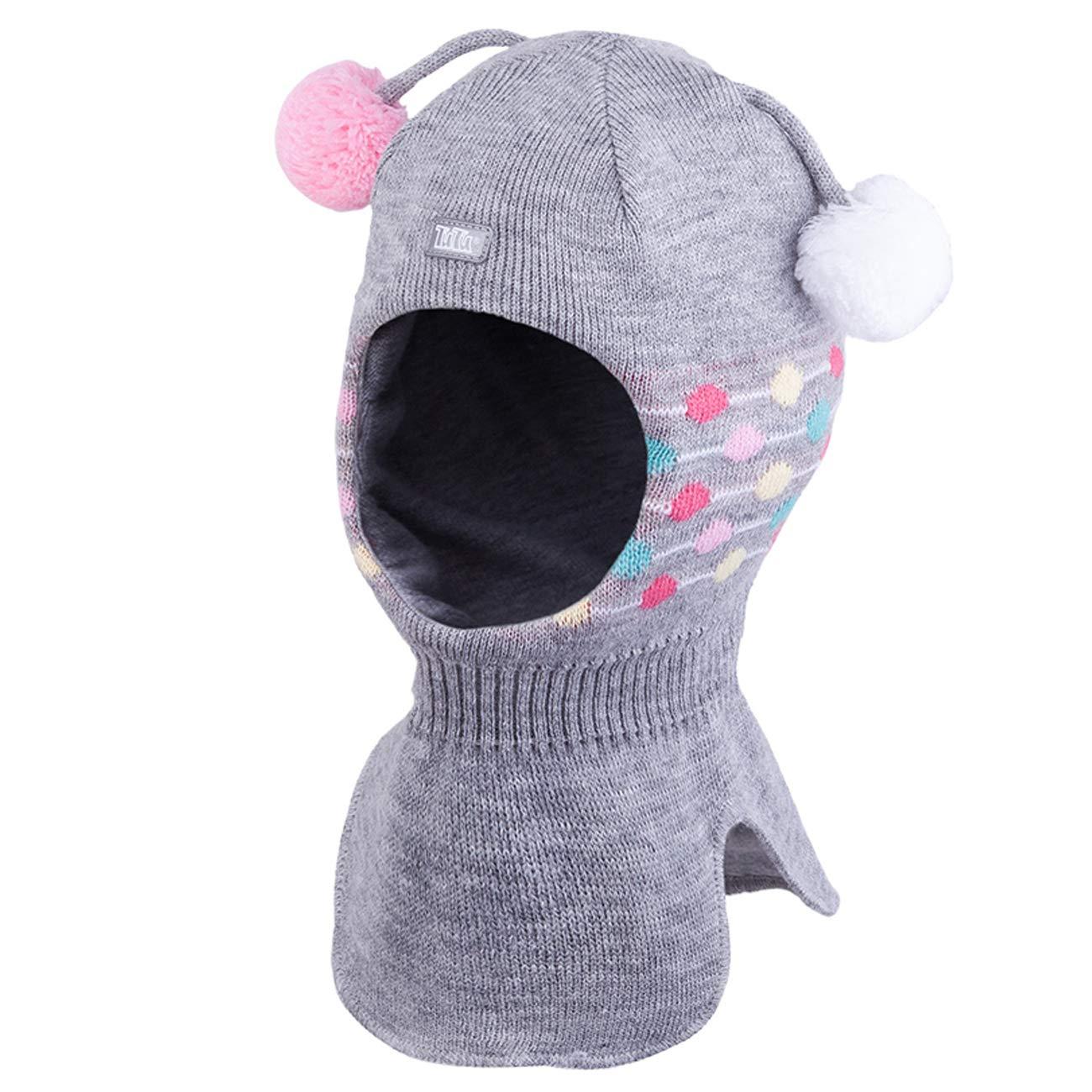 Galeja TuTu Kinder Schlupfmütze Mädchenmütze Winter Mütze Baumwollfutter mit Stirnschutz + Ohren Membran 3-004274