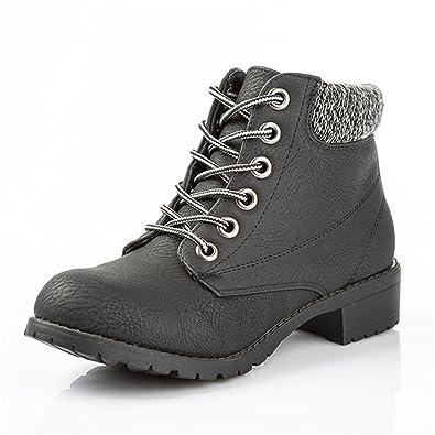e66378d42b5 Amazon.com | Women Ankle Boots Heels Lace Up Casual Shoes Woman ...