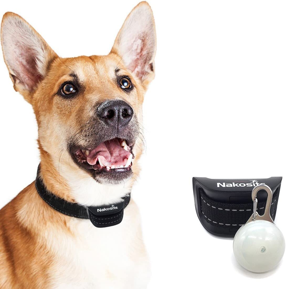 Nakosite PET2433 El Mejor Collar Anti-Ladridos, Collar Frena Ladridos. ajustable para perros pequeños, medianos y grandes
