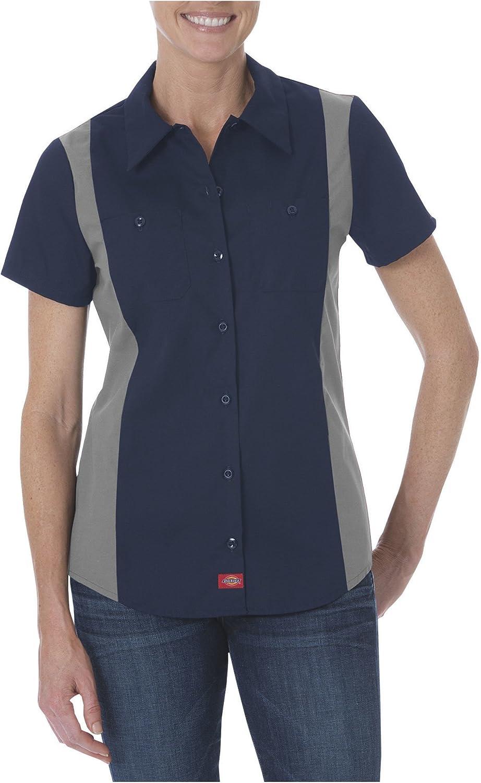 Dickies FS524 Womens Short Sleeve Industrial Color Block Shirt: Clothing