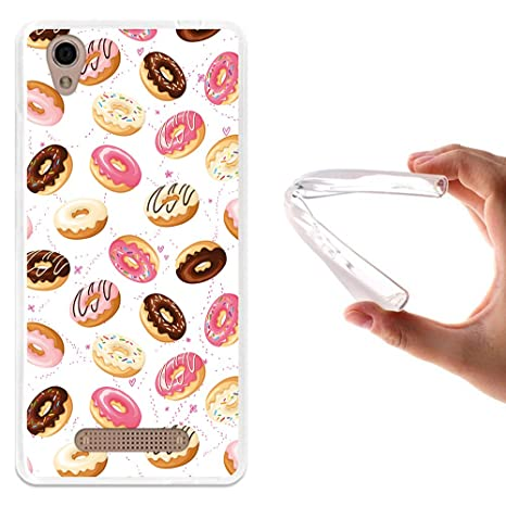 WoowCase - Funda Gel Flexible [ ZTE Blade A452 ] Donuts Carcasa Case Silicona TPU Suave