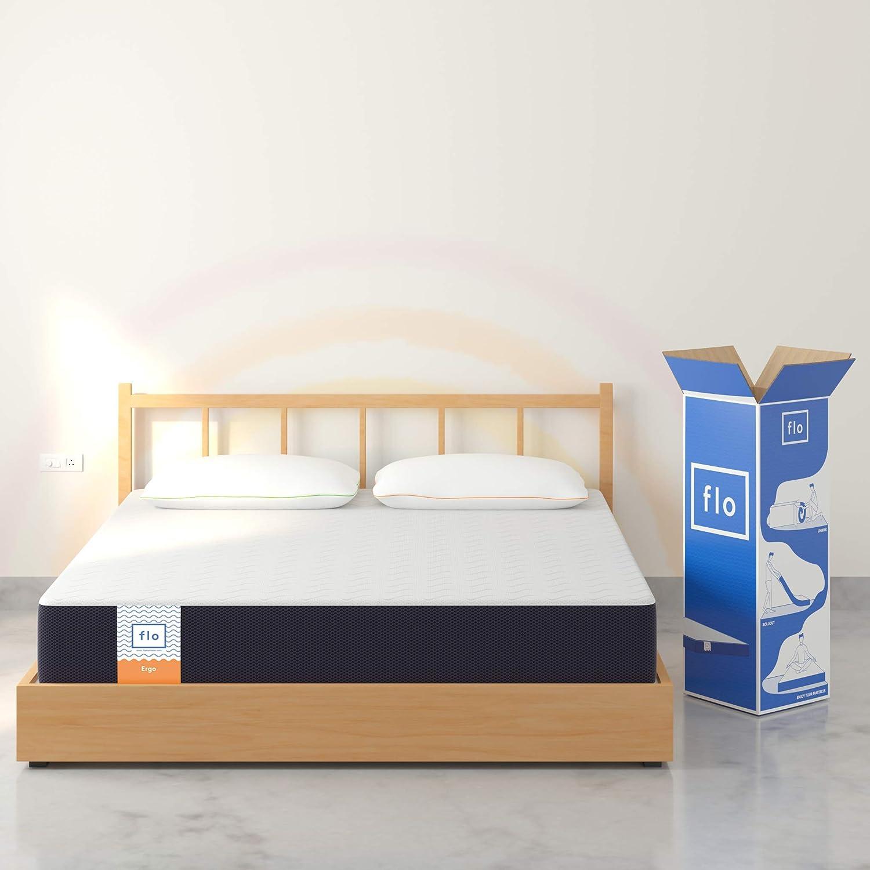 Flo Ergo Gel Memory Foam + Proprietary Responsive Foam Soft Mattress, 72x36x6 Inches (Single)