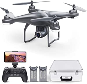 Potensic T25 GPS Drone with FPV RC, 1080P HD Camera, WiFi Live Video, Auto Return Home, Altitude Hold, Follow Me, 2 Batteries and Carry Case …