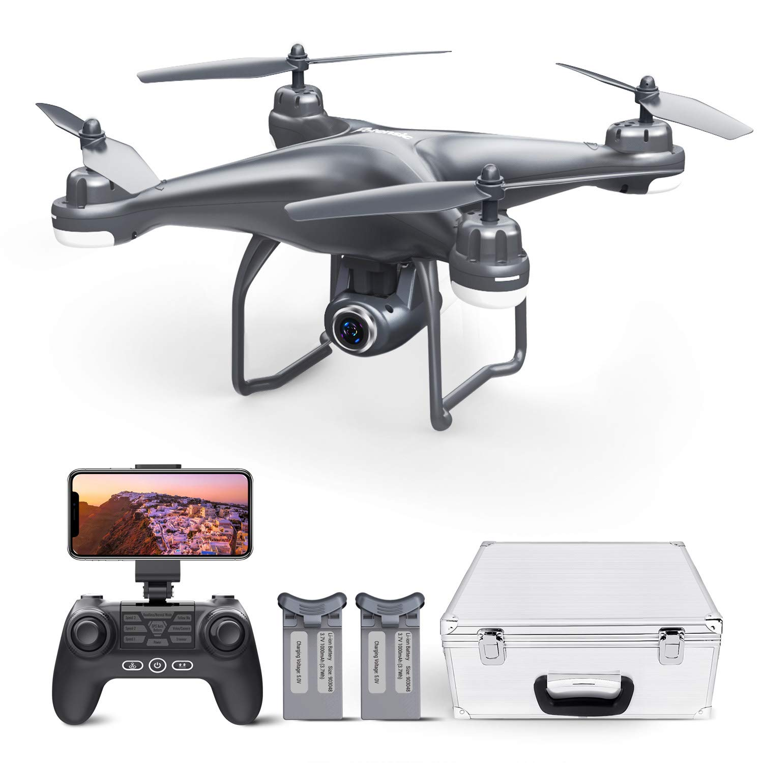 Potensic T25 GPS Drone, FPV RC Drone with Camera 1080P HD WiFi Live Video, Auto Return Home, Altitude Hold, Follow Me and Carrying Case by Potensic (Image #1)