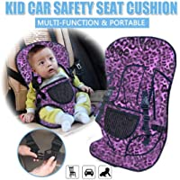 AVISA GLOBAL Baby's Adjustable Car Cushion Seat with Safety Belt Multi-Function (Purple and Black)