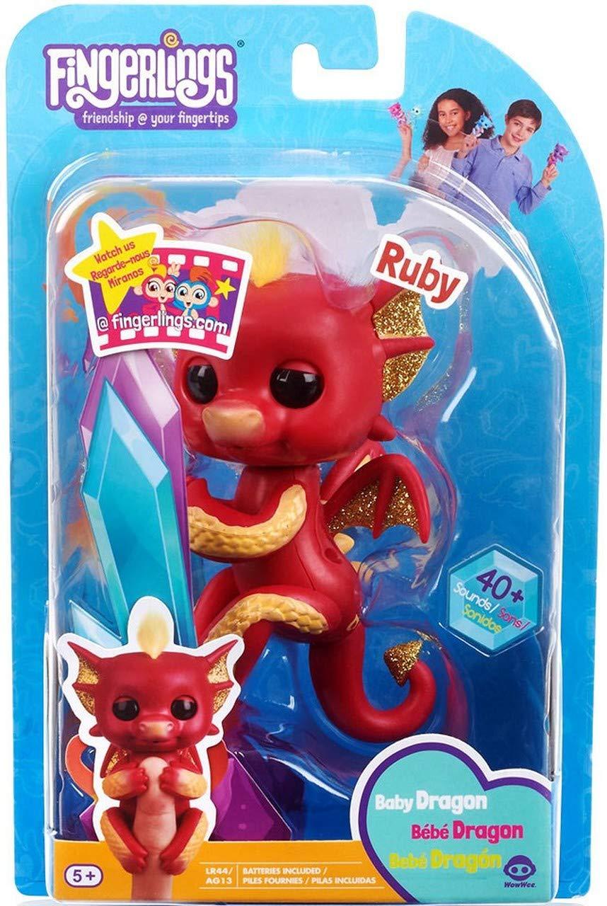 GRAYERA FINGERLINGS Super Value Gift Set Bundle Baby Dragon and Bonus 2 Bath SQUIRTERS and 10 oz Body WASH and Bath Buddy Hand WASH MITT with Body WASH by GRAYERA