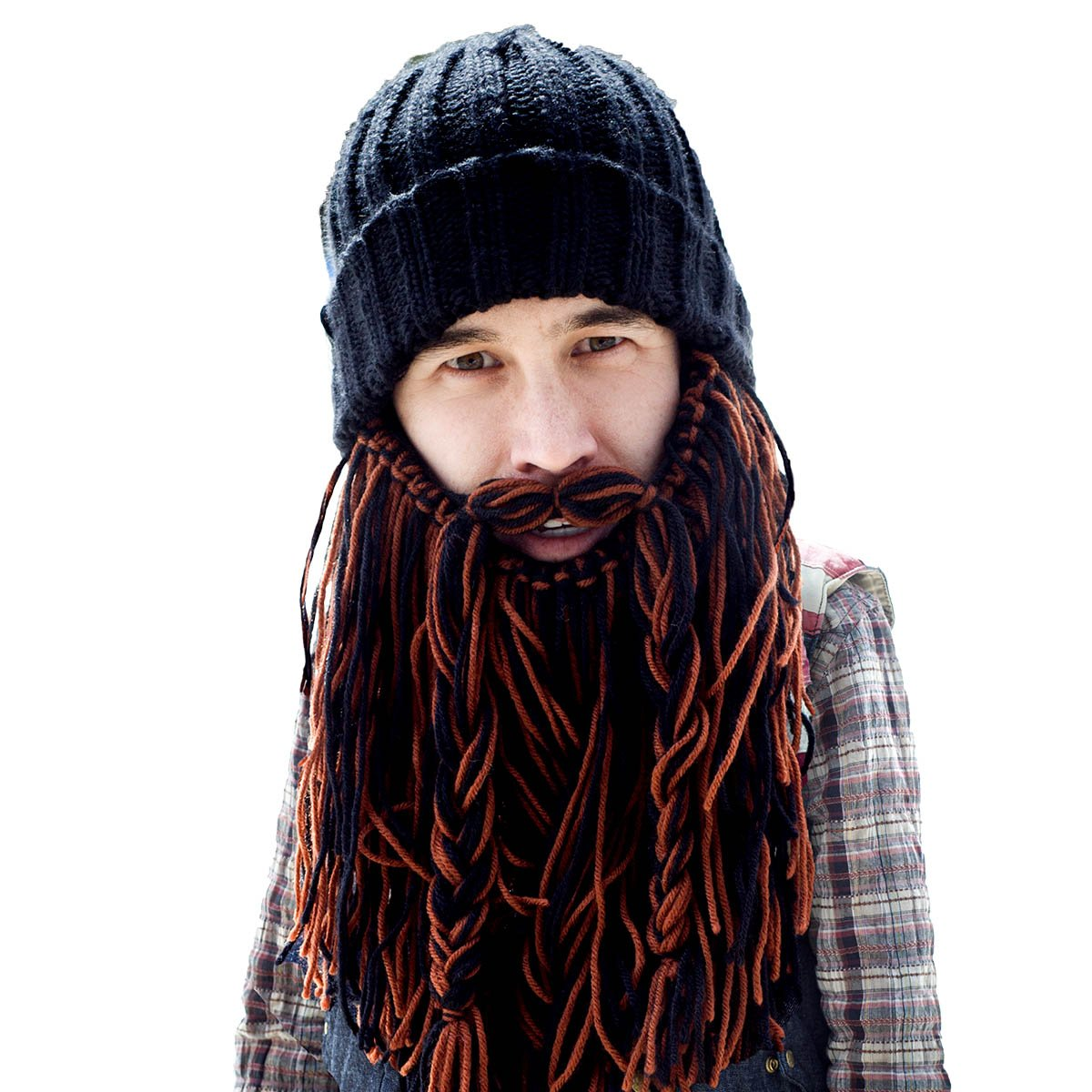 8b518586e8f Beard Head Barbarian Roadie Beard Beanie -Funny Knit Hat and Fake Beard  Facemask