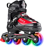 Hiboy Adjustable Inline Skates with All Light up Wheels, Outdoor &