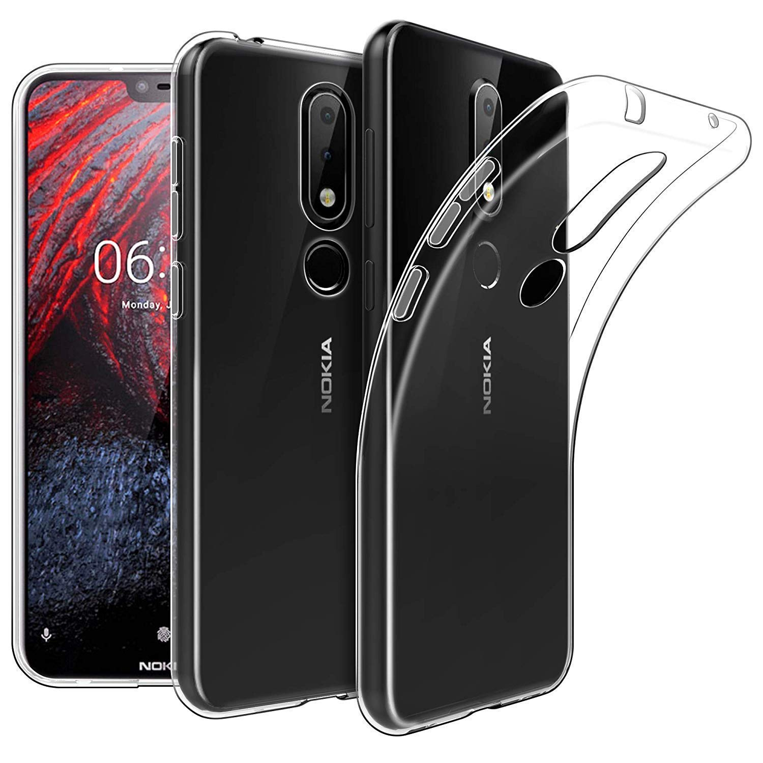 the latest fdfce d13fa Febelo Nokia 6.1 Plus Case, Premium Quality Ultra Thin Transparent  Exclusive Soft Back Cover for Nokia 6.1 Plus