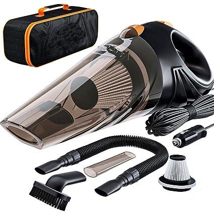 Aliaoforz 4800pa Potencia Fuerte Aspirador de Coche DC 12 voltios 120 W con el Bolso Ciclónico Húmedo/seco Aspirador portátil automático Limpiador de Polvo: Amazon.es: Coche y moto