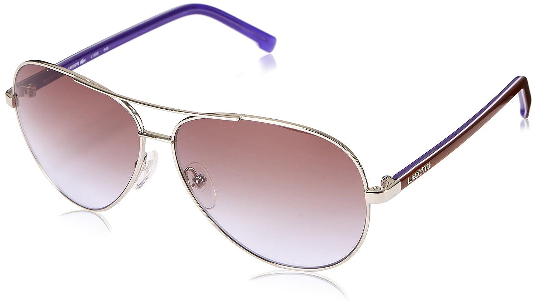 3985e4fc2b9 LACOSTE Sunglasses L155S 045 Silver 58MM  Amazon.co.uk  Clothing