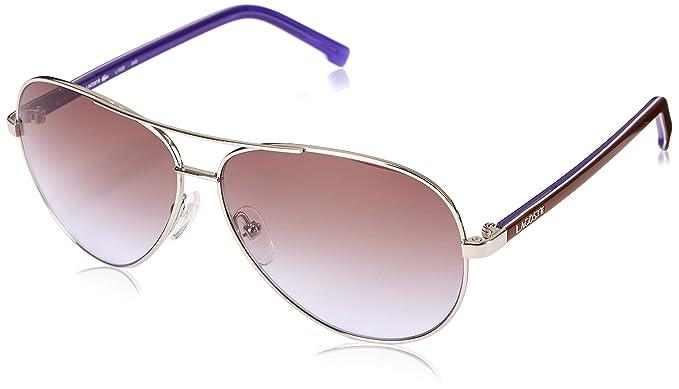 9d7372273790 LACOSTE Sunglasses L155S 045 Silver 58MM  Amazon.co.uk  Clothing