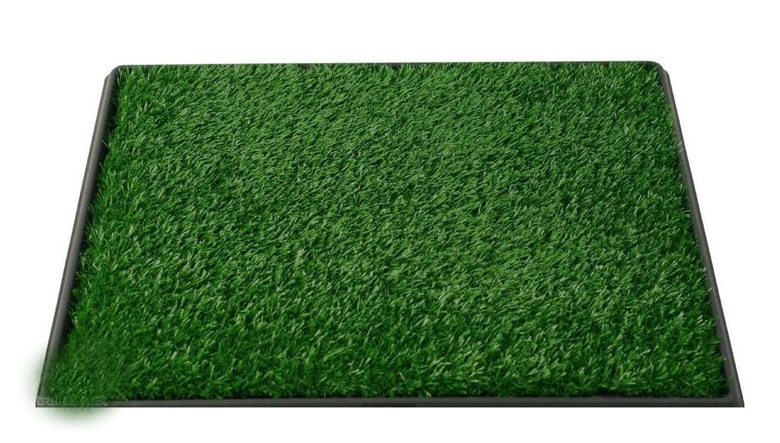 Pet Potty Dog Training Grass Pad Zoom Park Patch Mat Indoor 25'' x 20'' x 2'' New House Pet