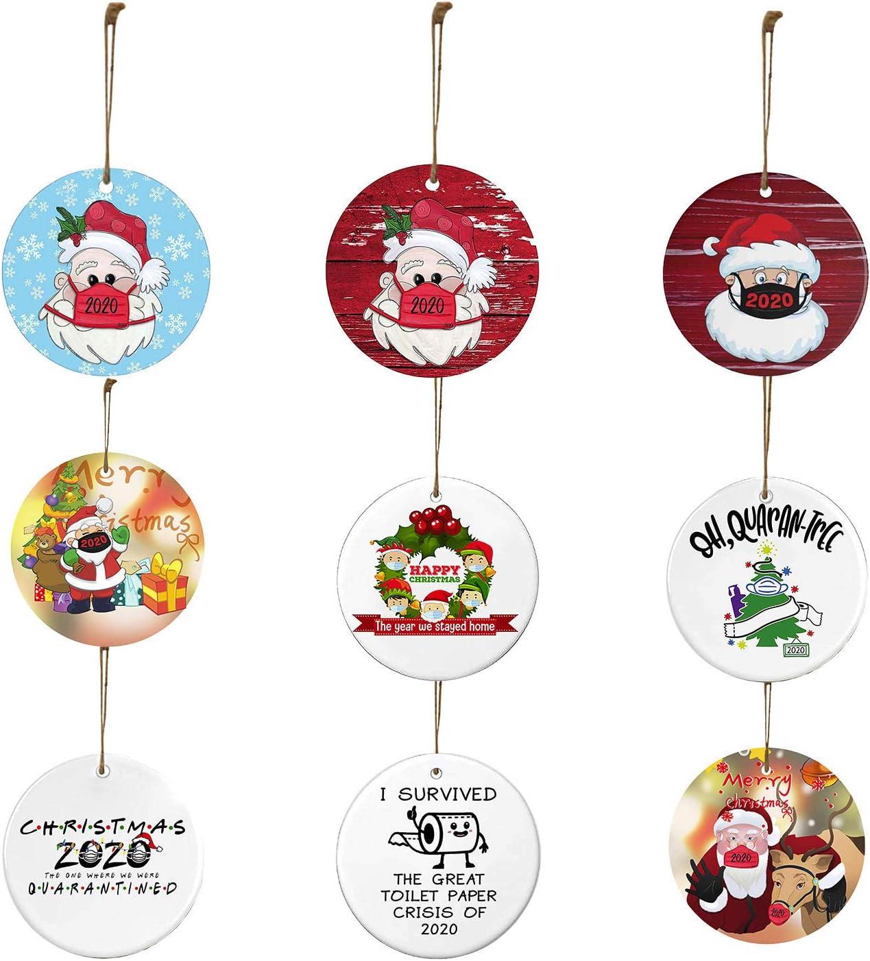 um Weihnachtsb/äume Schaufenster usw um die festliche Atmosph/äre von Weihnachten und farbgemischten Outfits hinzuzuf/ügen 9 St/ück Holzweihnachtsanh/änger k/önnen verwendet werden zu schm/ücken H