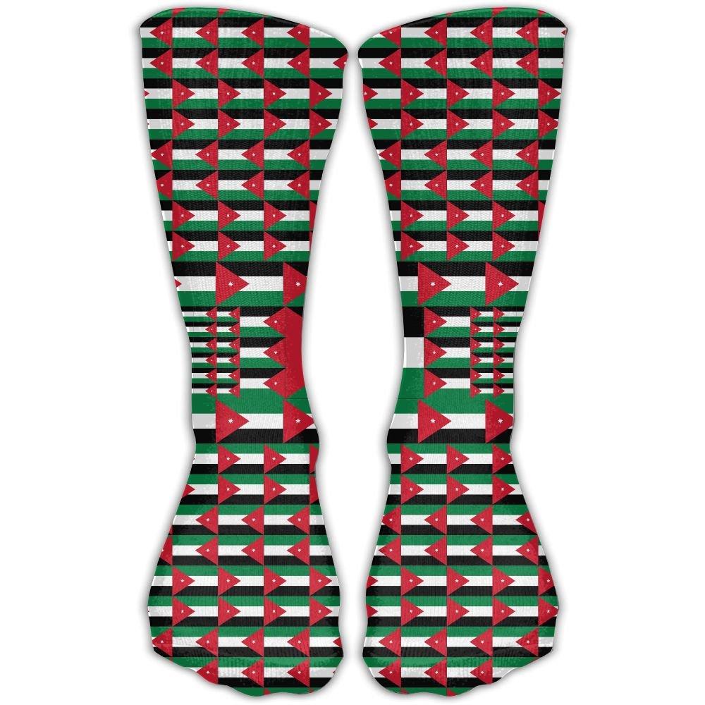 Jordan Flag Casual Socks Crew Socks Crazy Socks Soft Breathable For Women Sports Athletic Running