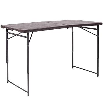 Amazon.com: flash furniture dad-lf-122z-gg BRN 23,5 x 48.25 ...