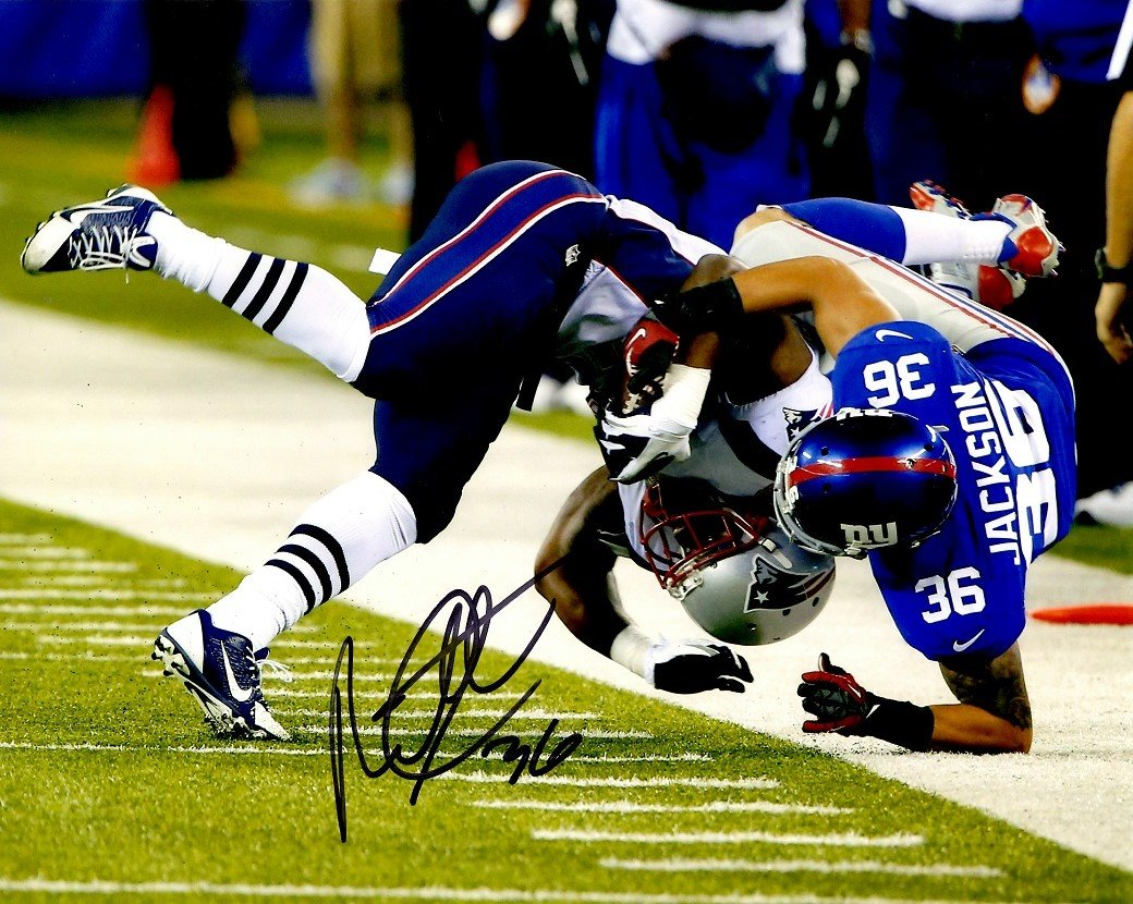 release date 4ff09 94ff3 Autographed Bennett Jackson New York Giants 8x10 Photo at ...