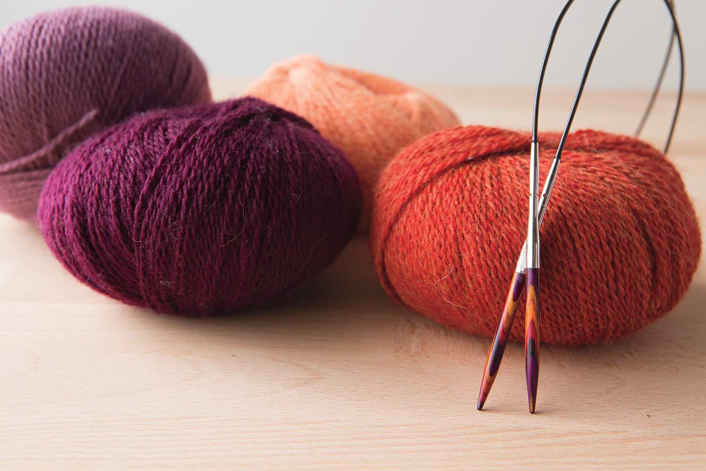 Knit Picks Options 2-3//4 Short Square Wood Interchangeable Knitting Needle Set Foursquare