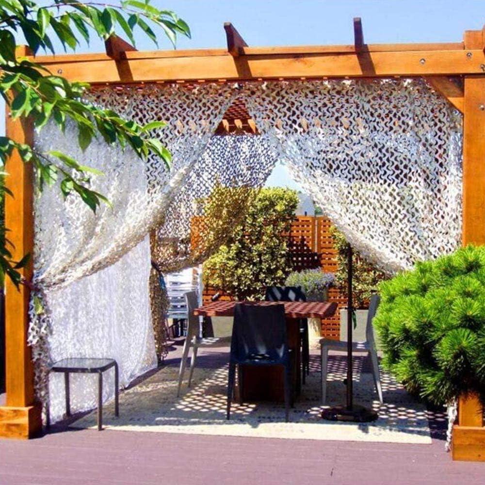 Calado Pantalla de Tela Blanca Malla de Sombra pérgola protección Filete de Sol for la Cubierta de Lona decoración del jardín Repuesto Paraguas (Color : White, Size : 10 * 10M): Amazon.es: Hogar