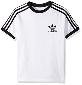 adidas Originals Tops Big Boys' Kids California Tee, White/Black, Large