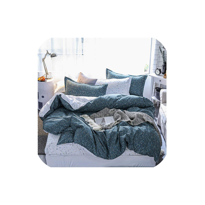 LOVE-JING Home Textile Pink Girl Heart Bedding Set 3/4Pcs Quilt Cover Queen Full King Size Children Cartoon Duvet Cover Bedclothes,K14,Pillowcase 2Pcs,(Flat Bed Sheet)
