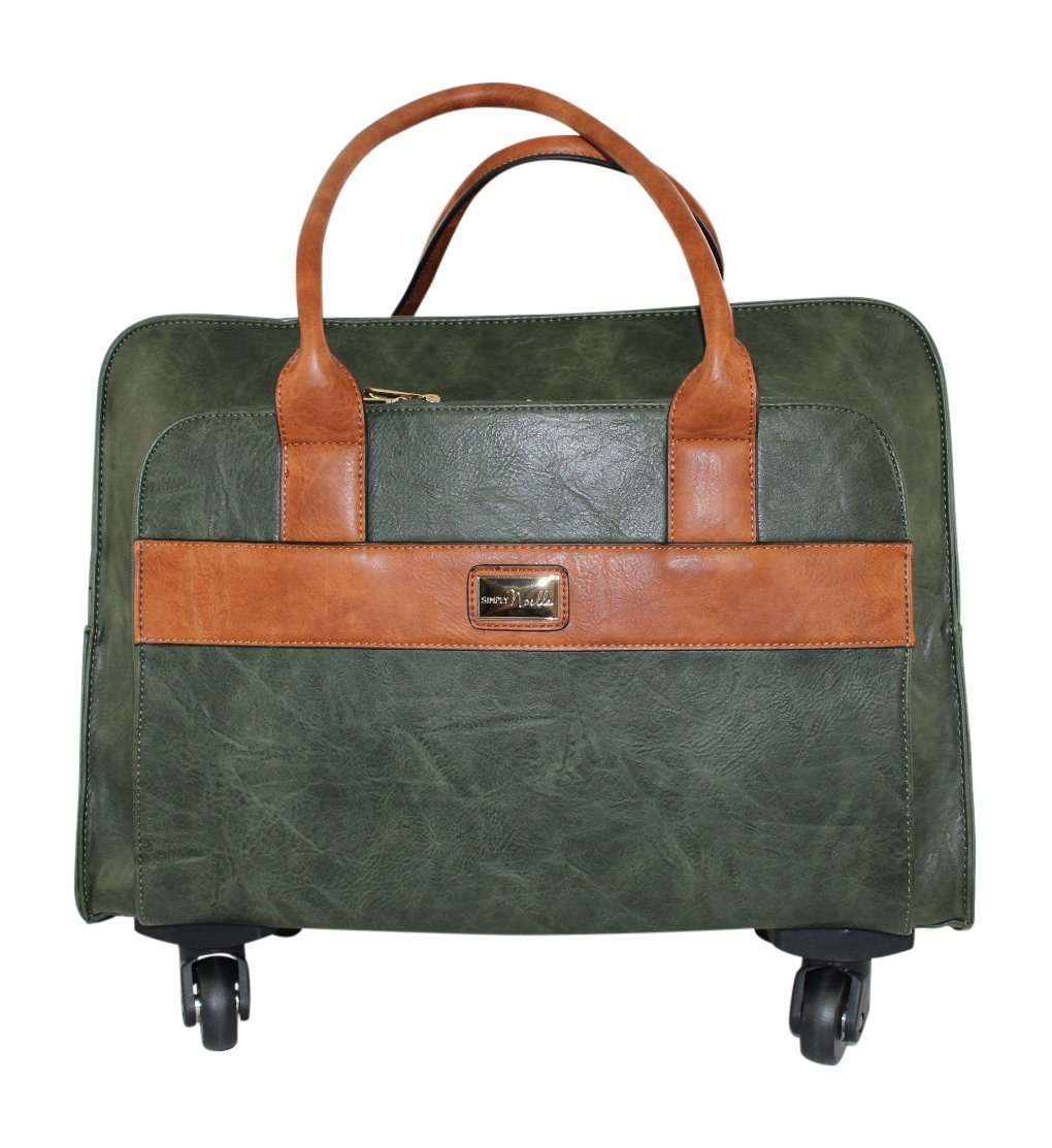 Simply Noelle 2-Piece Roller Tote with Laptop Bag (Fern) by Simply Noelle