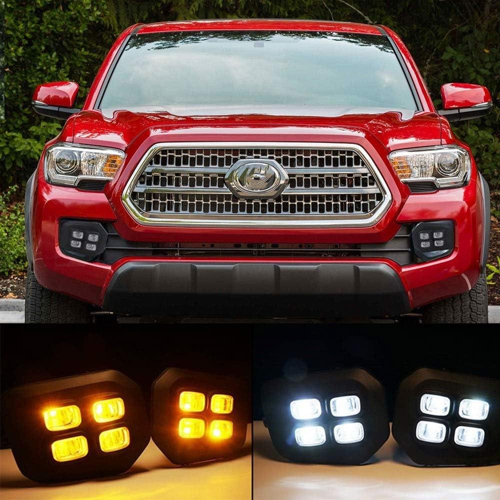 Front Valance For 2016-2017 Toyota Tacoma Models w//LED Fog Lamps Primed