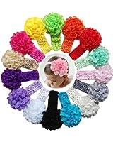 Baby Girl's Headbands Chiffon Flower QandSweet Hair Accessories for Newborn Toddler and Kids