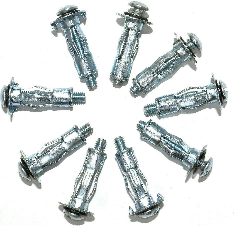 M4 x 21//25mm Plasterboard Cavity Wall Fixing Anchors//Plugs 5