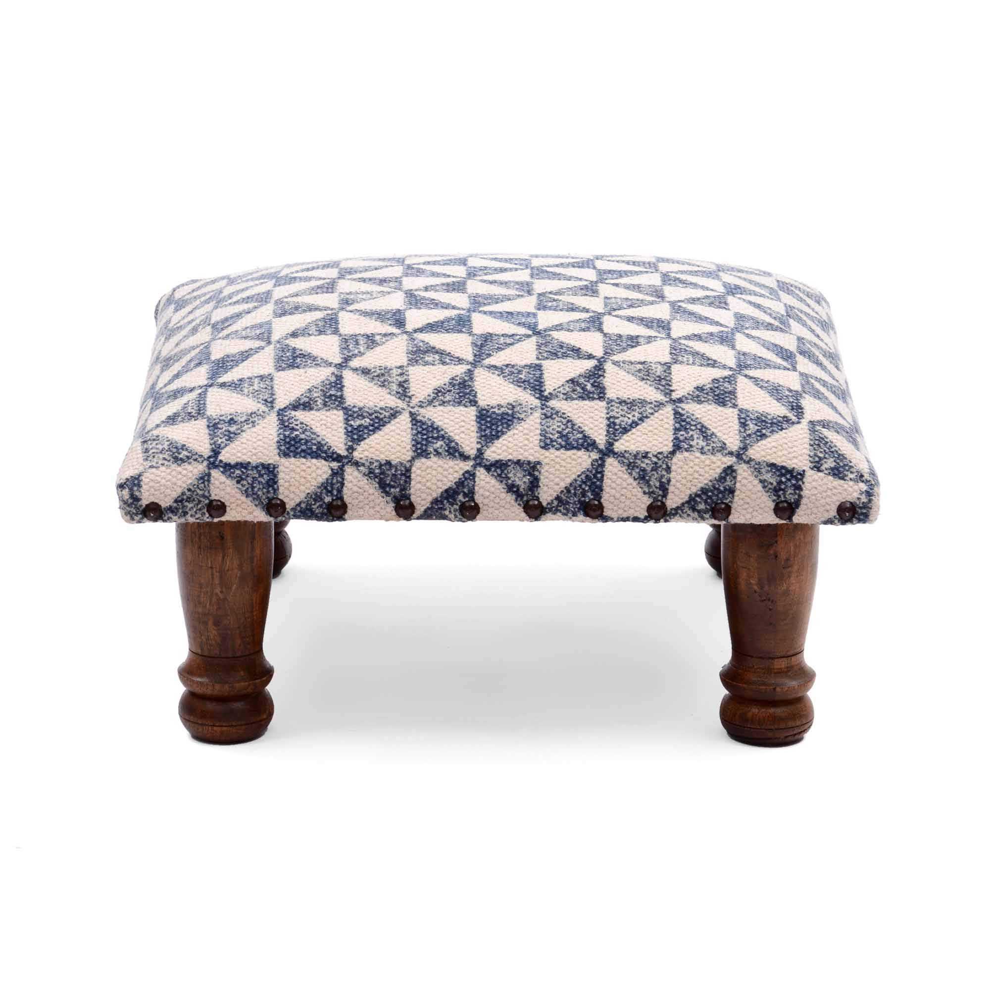 Natural Furnish Printed 100% Cotton Stuffed Poufee and Foot Stool by Natural Furnish