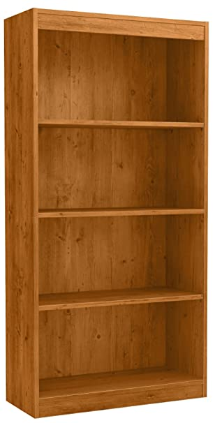 South Shore Axess 4 Shelf Bookcase, Country Pine