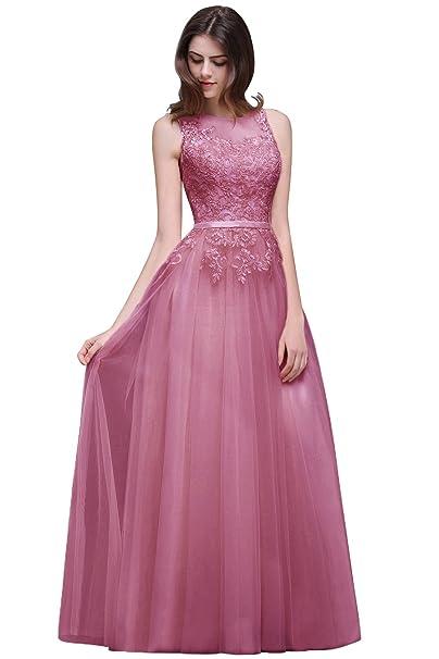 Babyonlinedress Largo vestido A line y elegante de chiffón vestido ...