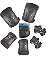 Protective Gear, iTECHOR 6Pcs Sport Safety Equipment Protective Gear Knee and Elbow Pads Set for Skating, Skateboard, Bicycling,Outdoor activities