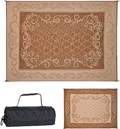 Reversible Mats 9 x 12 Brown Beige