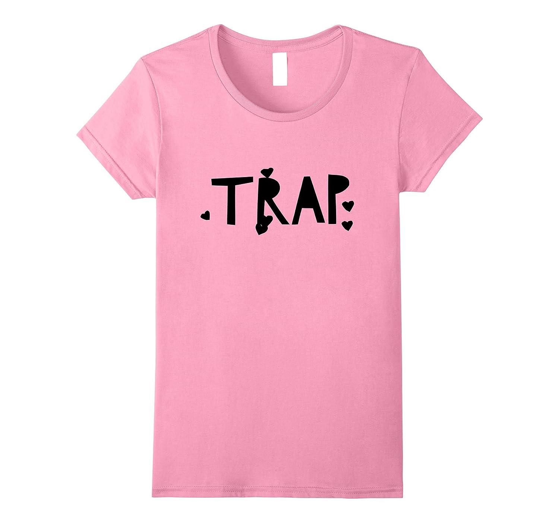 Womens Pink Girls Trap T-Shirt-Art
