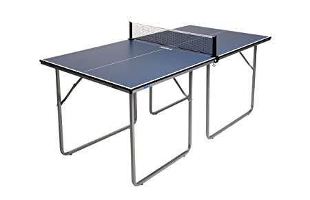 JOOLA Midsize Compact Table Tennis Table Great for Small Spaces and Apartments Multi-Use Free Standing Table – Compact Storage Fits in Most Closets – Net Set Included