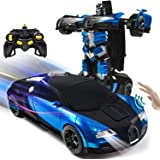 VillaCool 1:14 Scale RC Robot Cars Toys for Children, Gesture Sensing Transform Remote Control Car One-Button…