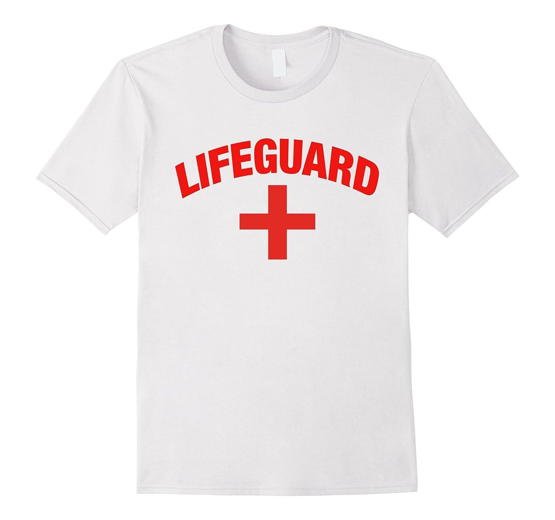 White Lifeguard Shirt - 1 Sided Lifeguard Tshirt-CD