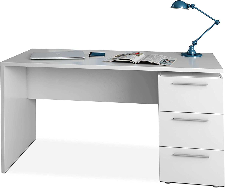 Habitdesign 004605BO - Mesa de despacho 3 cajones, Mesa Escritorio ...