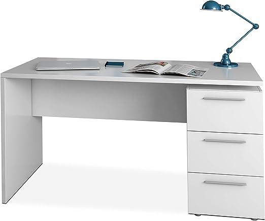 Habitdesign 004605A - Mesa de despacho 3 cajones, Mesa Escritorio ...