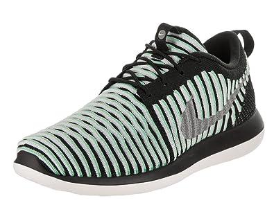 b37d8dee9add Nike Kids Roshe Two Flyknit (GS) Green Glow Metallic Silver Running Shoe 5
